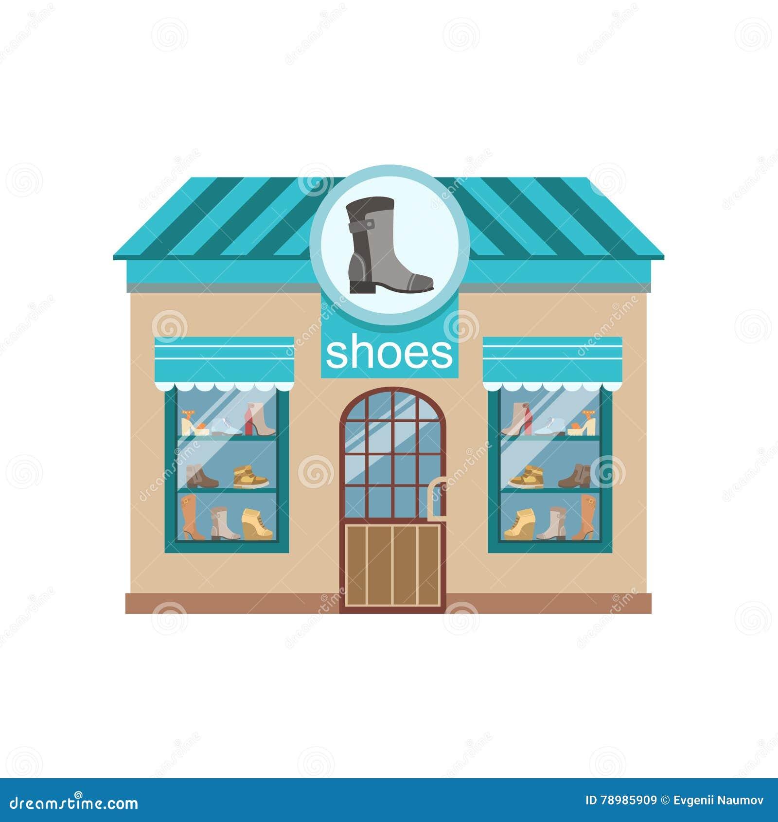 shoe shop commercial building facade design stock vector book clip art book clip art free