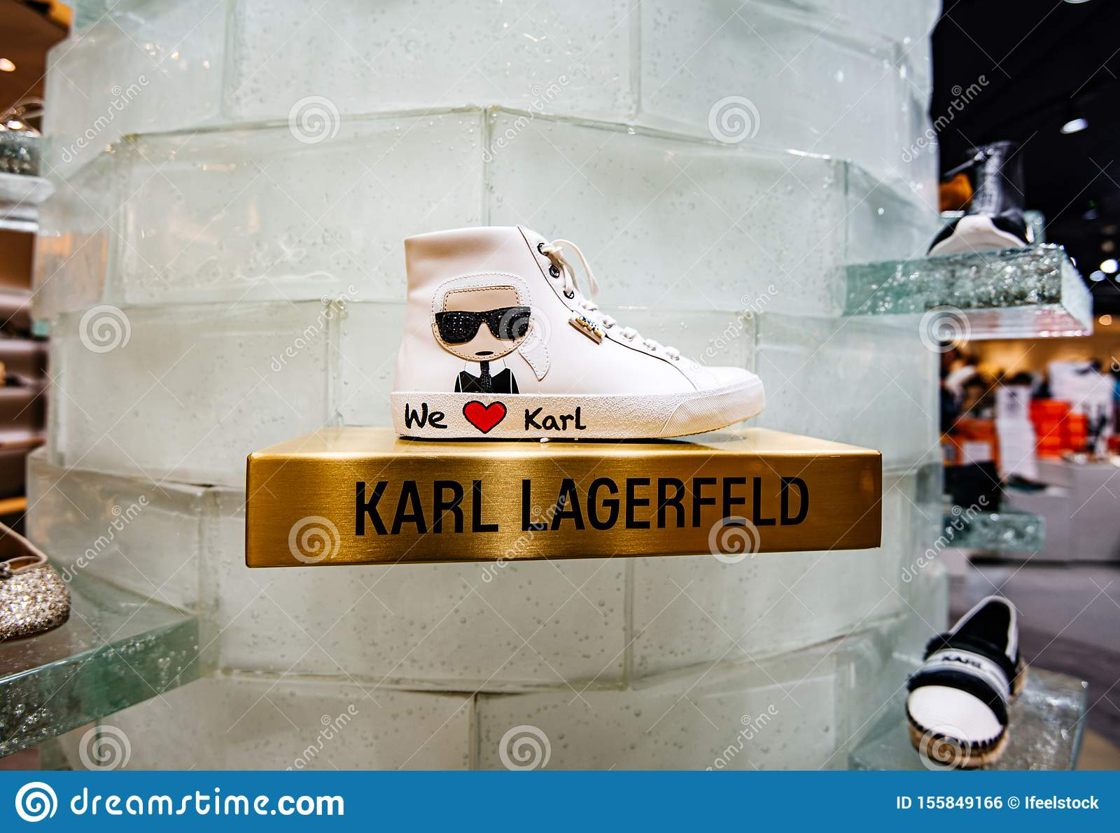 Shoe Shopping Center With We Love Karl