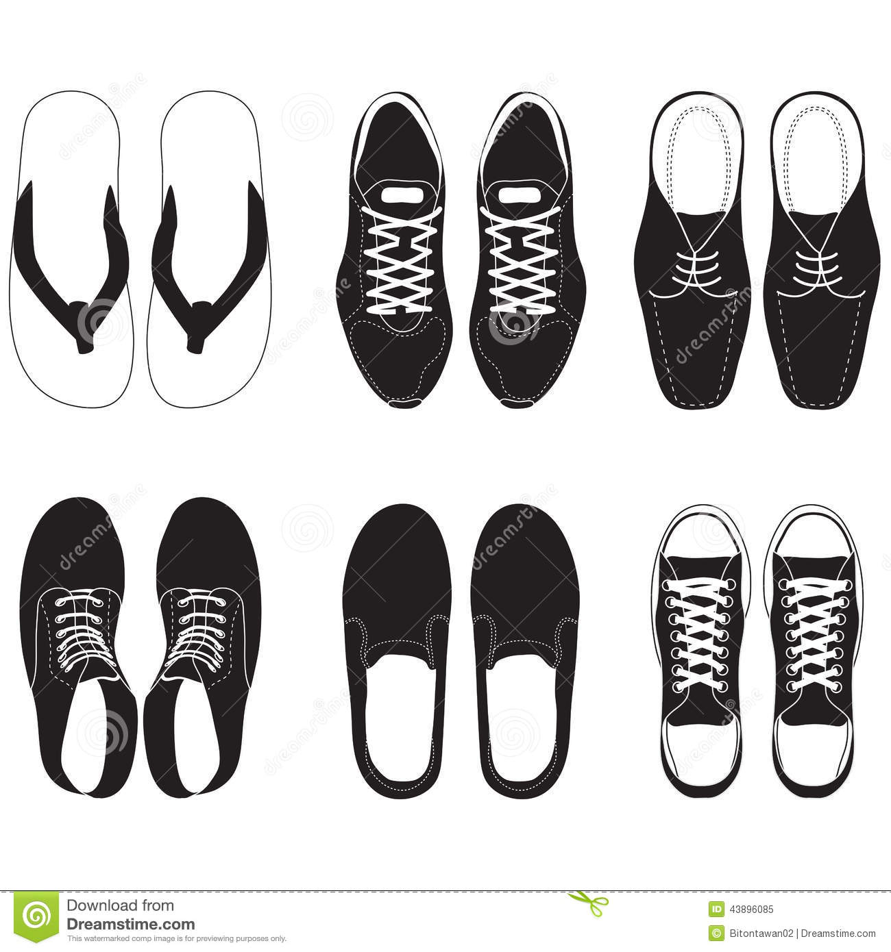 Pair Of Shoes Top View Clipart