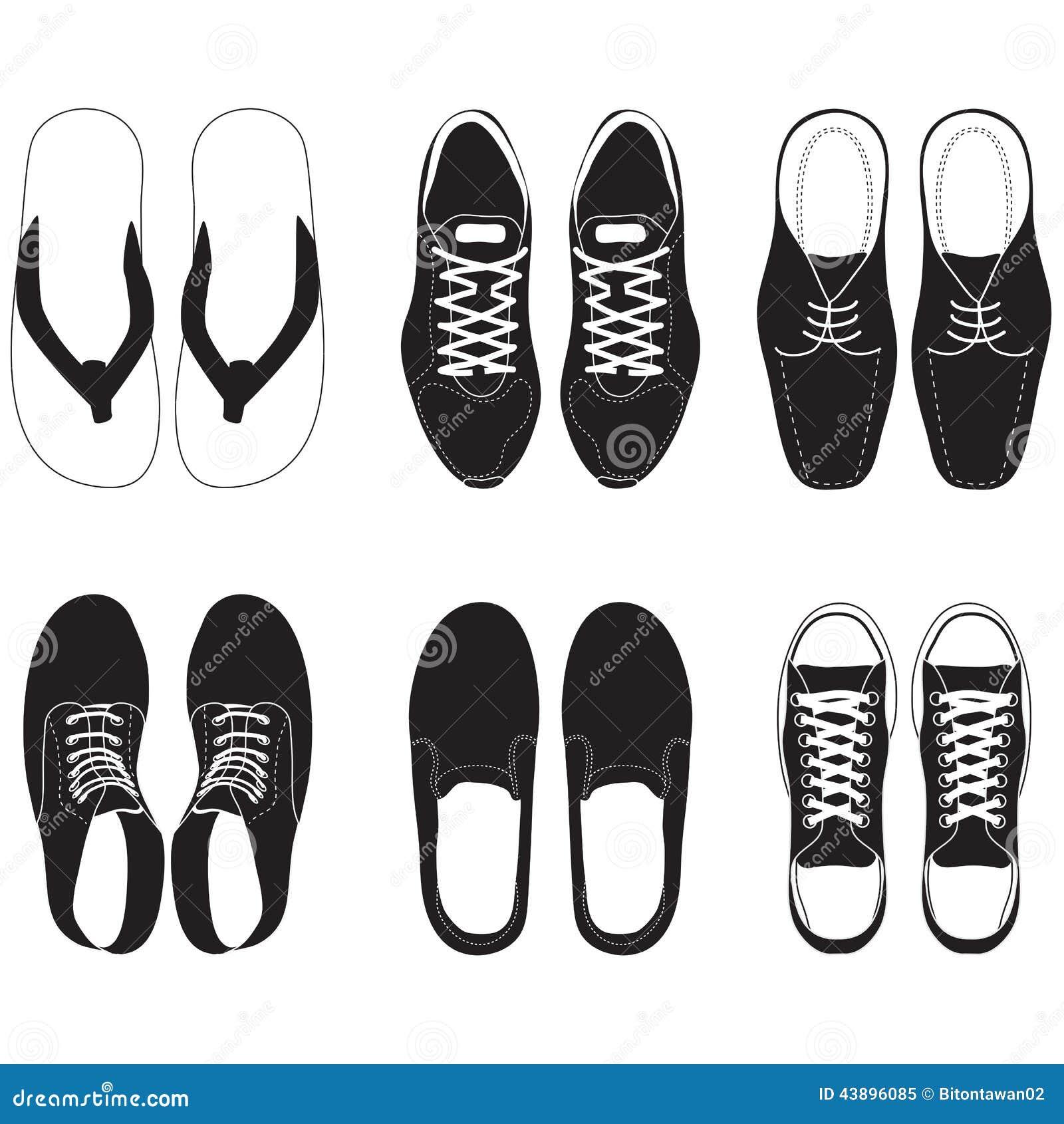 Men Shoes Illustration Star