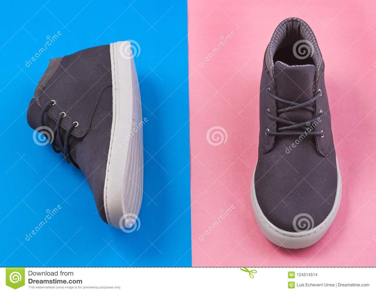 Shoe With White Sole For Men - Top View