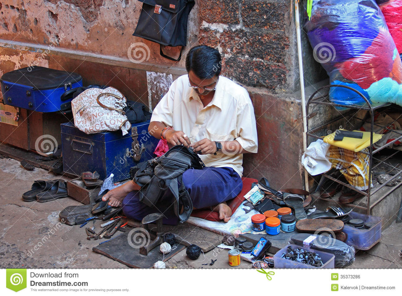 People Who Repair Shoes