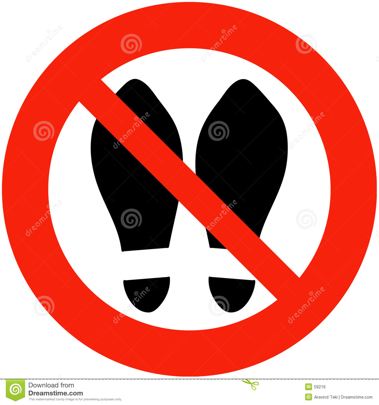 Shoes Banned