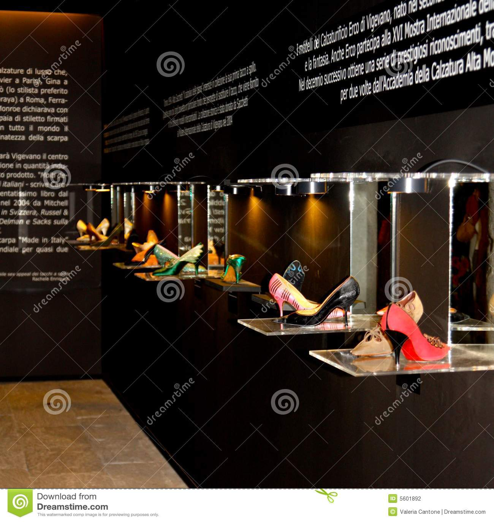 Shoes exhibition in Vigevano