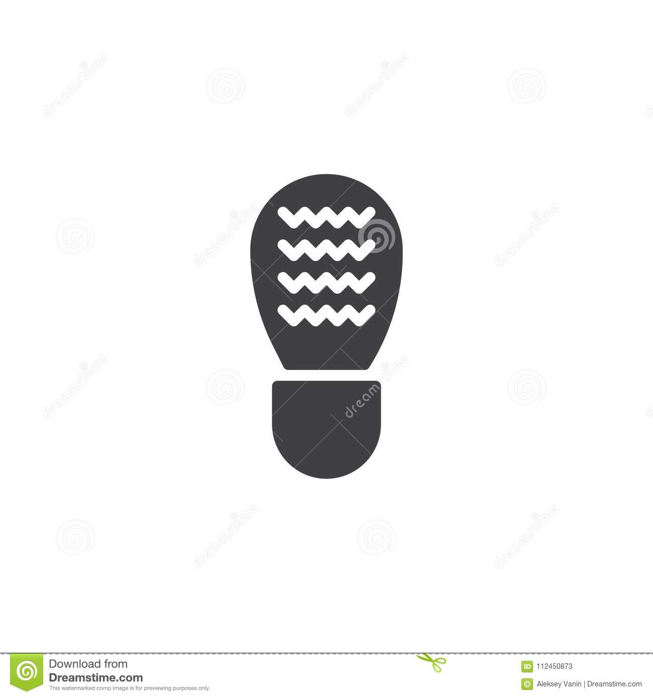 Shoes Footprint Vector Icon Stock Vector Illustration Of Foot