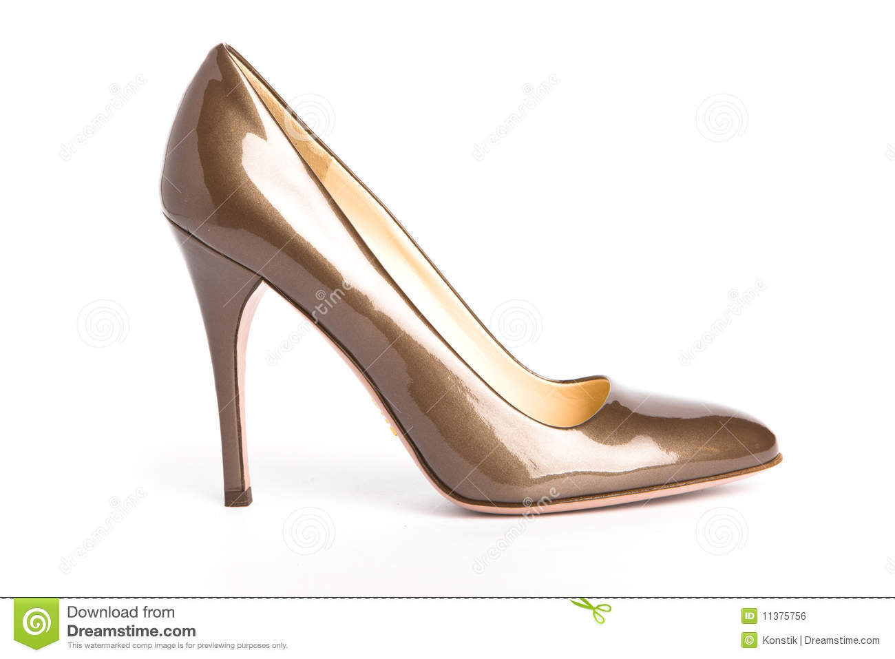 Beige Female New Shoes On High Heel-stiletto Royalty-Free ...