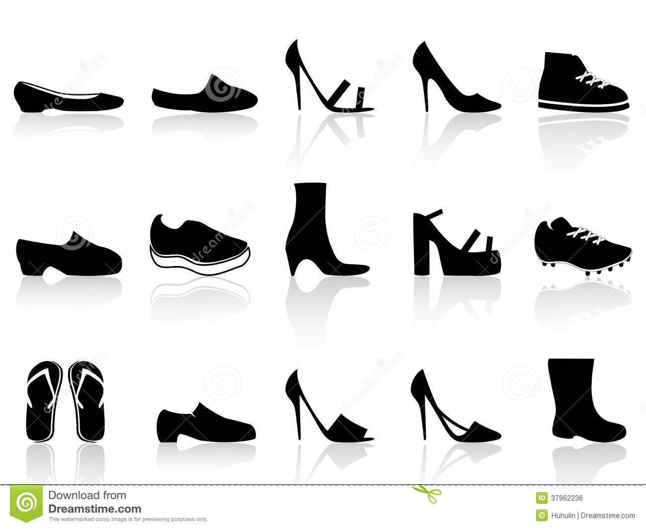 Isolated black shoes icons from white background cae22e557127