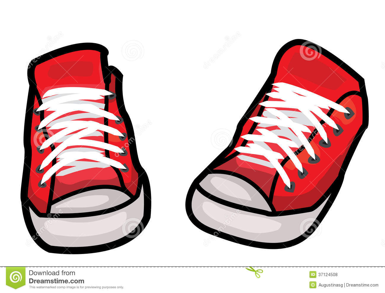 Pair of running shoes clipart