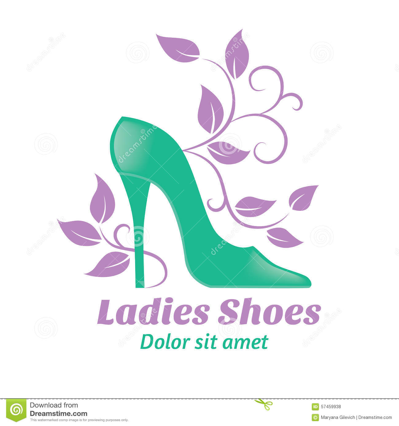 Logo Shoes Stock Vector - Image: 53804173