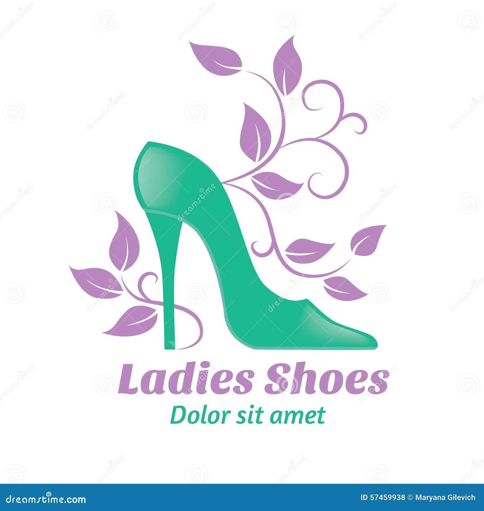 Logo Shoes. Long Boots. Emblem For Shoe Store Or Shoe Production ...