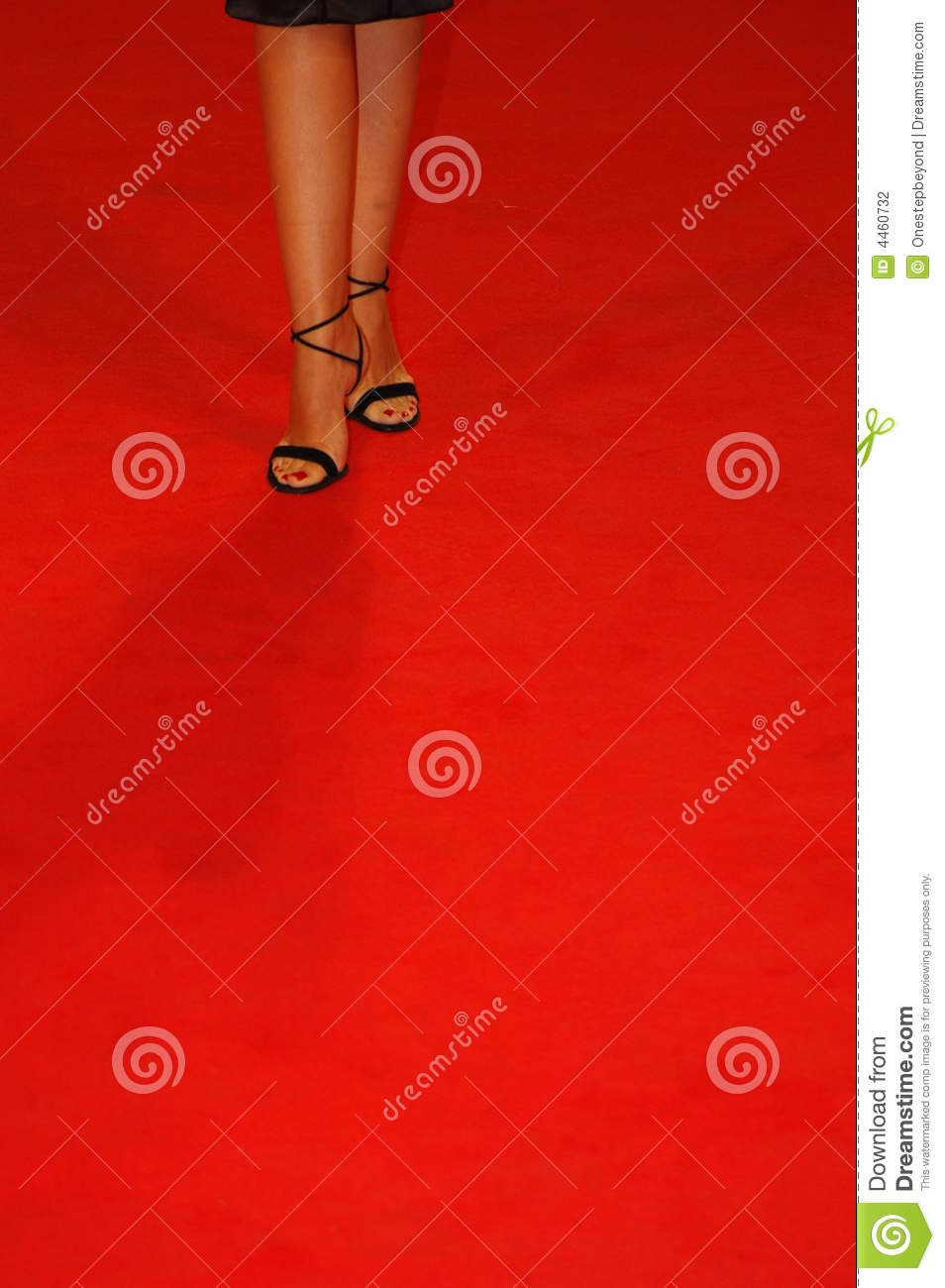 Shoes On Red Carpet Stock Photo Image Of Color Star 4460732