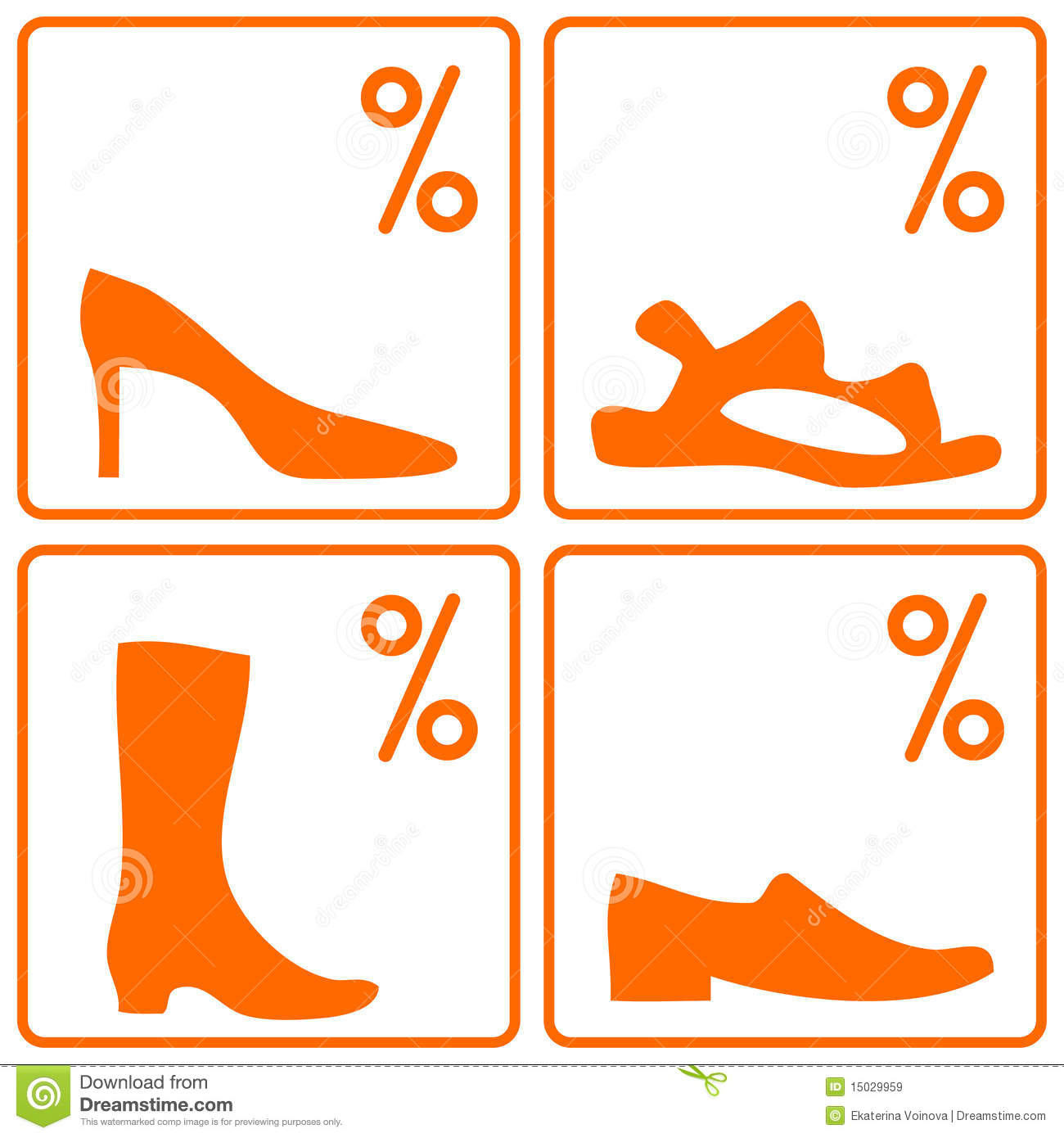 Royalty Free Stock Images: Shoes sale