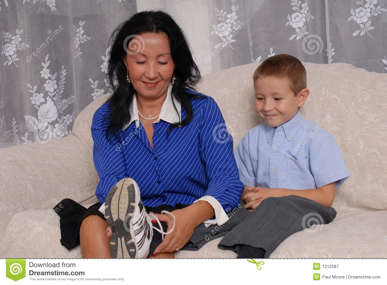 Shoes And Socks Time 4 Stock Image Image Of Family Smile 1212587