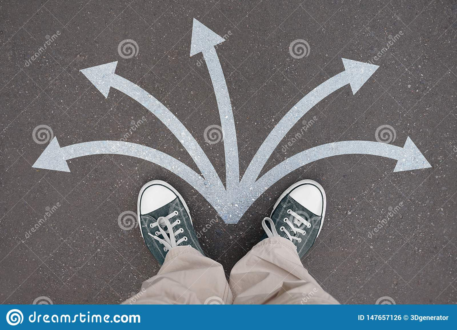 Shoes, trainers - five arrows, crossroads