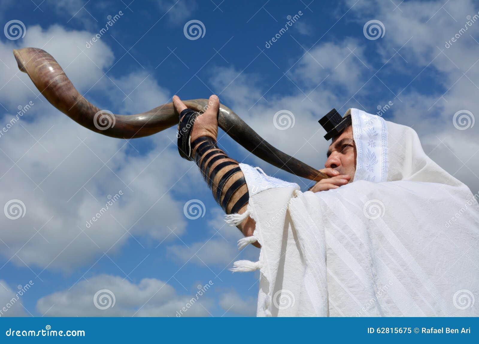 Shofar judaico do sopro do homem