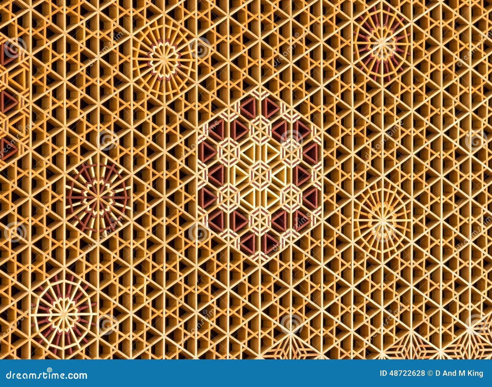 Shoji And Kumiko Pattern Kaza Guruma Stock Photo Image
