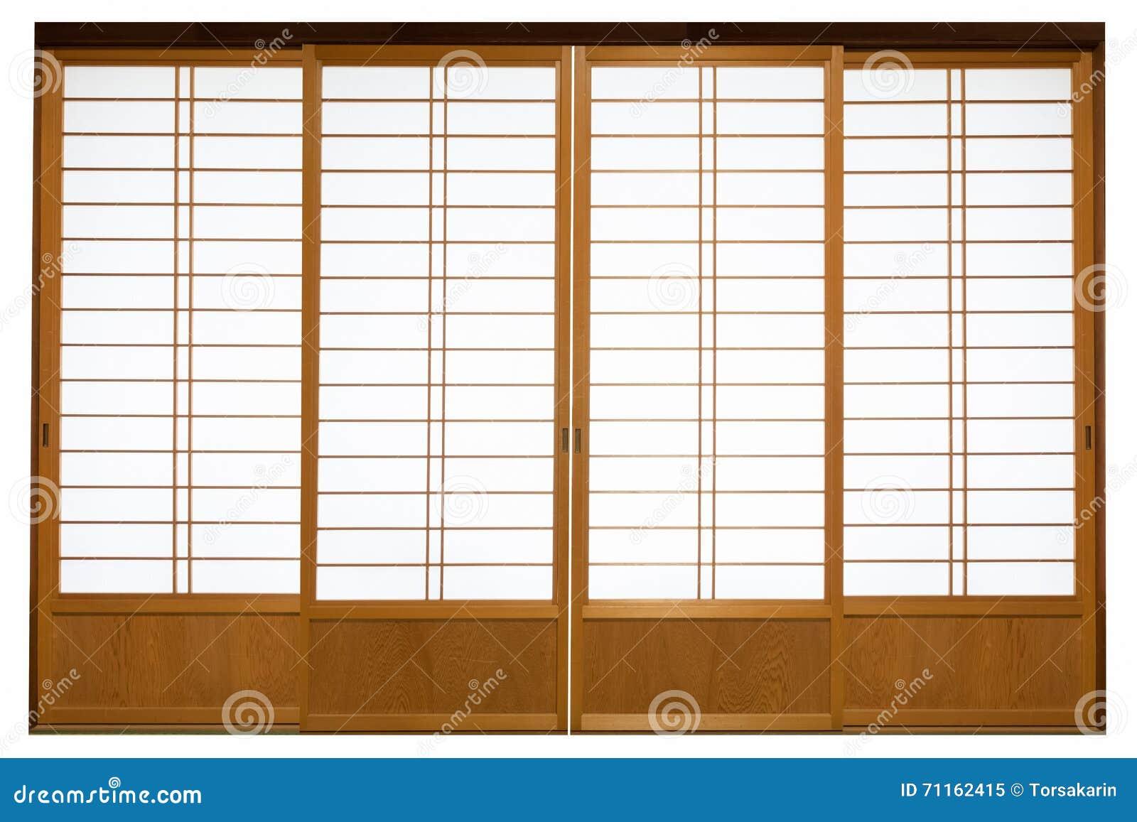Shoji traditional japanese door stock image image - Puertas shoji ...
