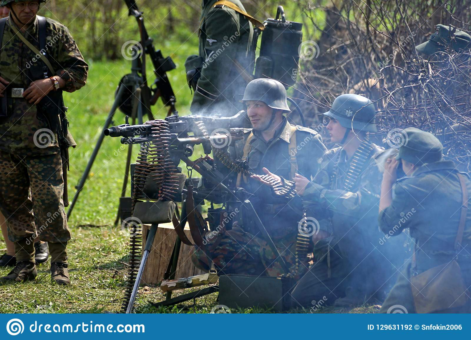 Reenactment Of World War II Events  Editorial Photography - Image of