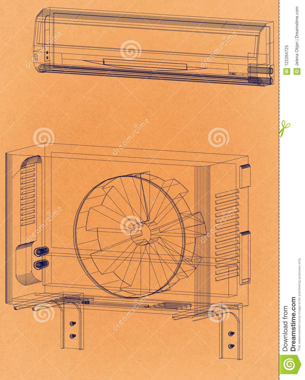 Air Conditioner Blueprint Tempstar Ac Unit Wiring Diagram Free Download Shoot Retro Architect Image 1046x1300