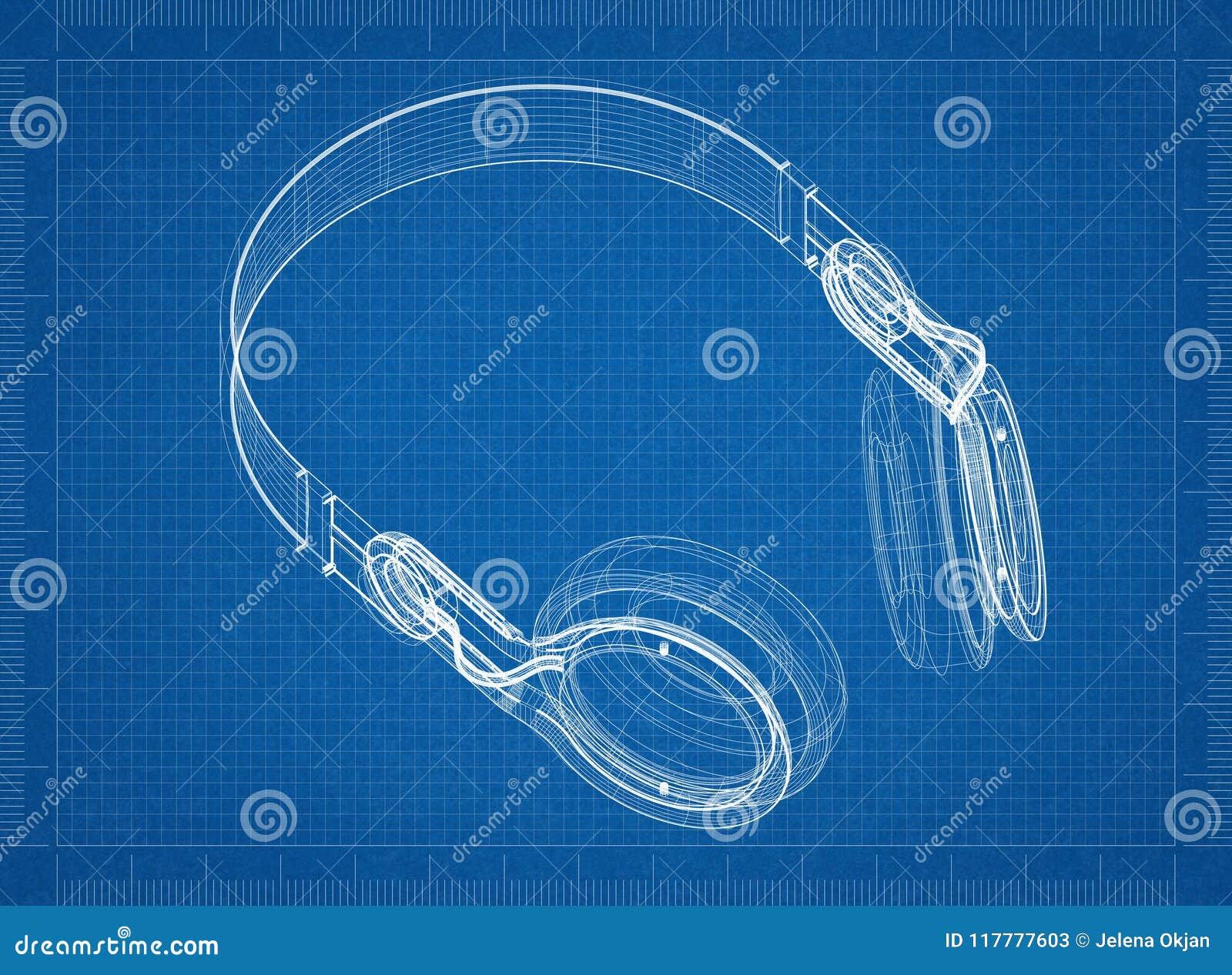Headphones architect blueprint stock illustration illustration of download headphones architect blueprint stock illustration illustration of paper concept 117777603 malvernweather Images
