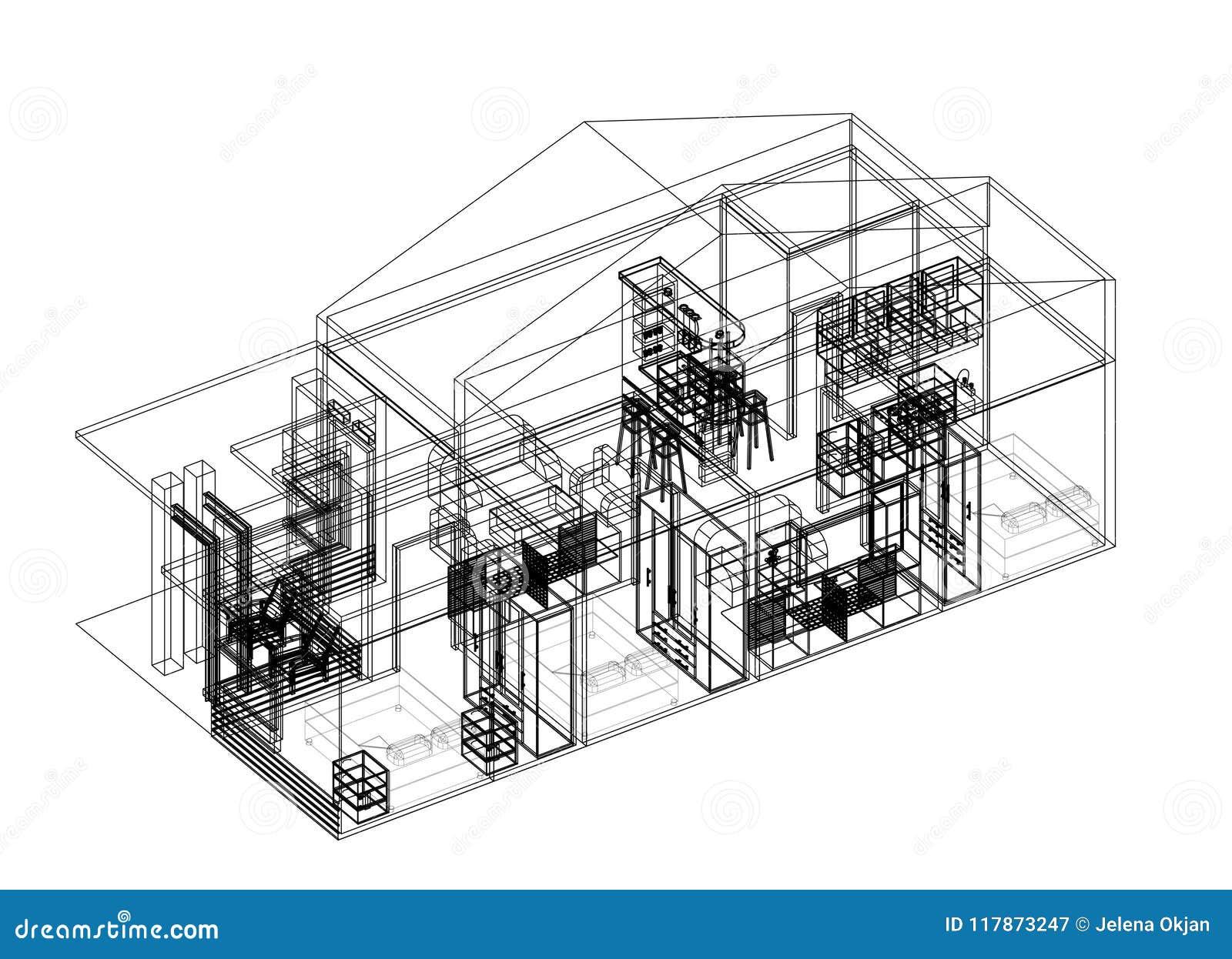 House architect design blueprint isolated stock image image of house architect design blueprint isolated malvernweather Gallery