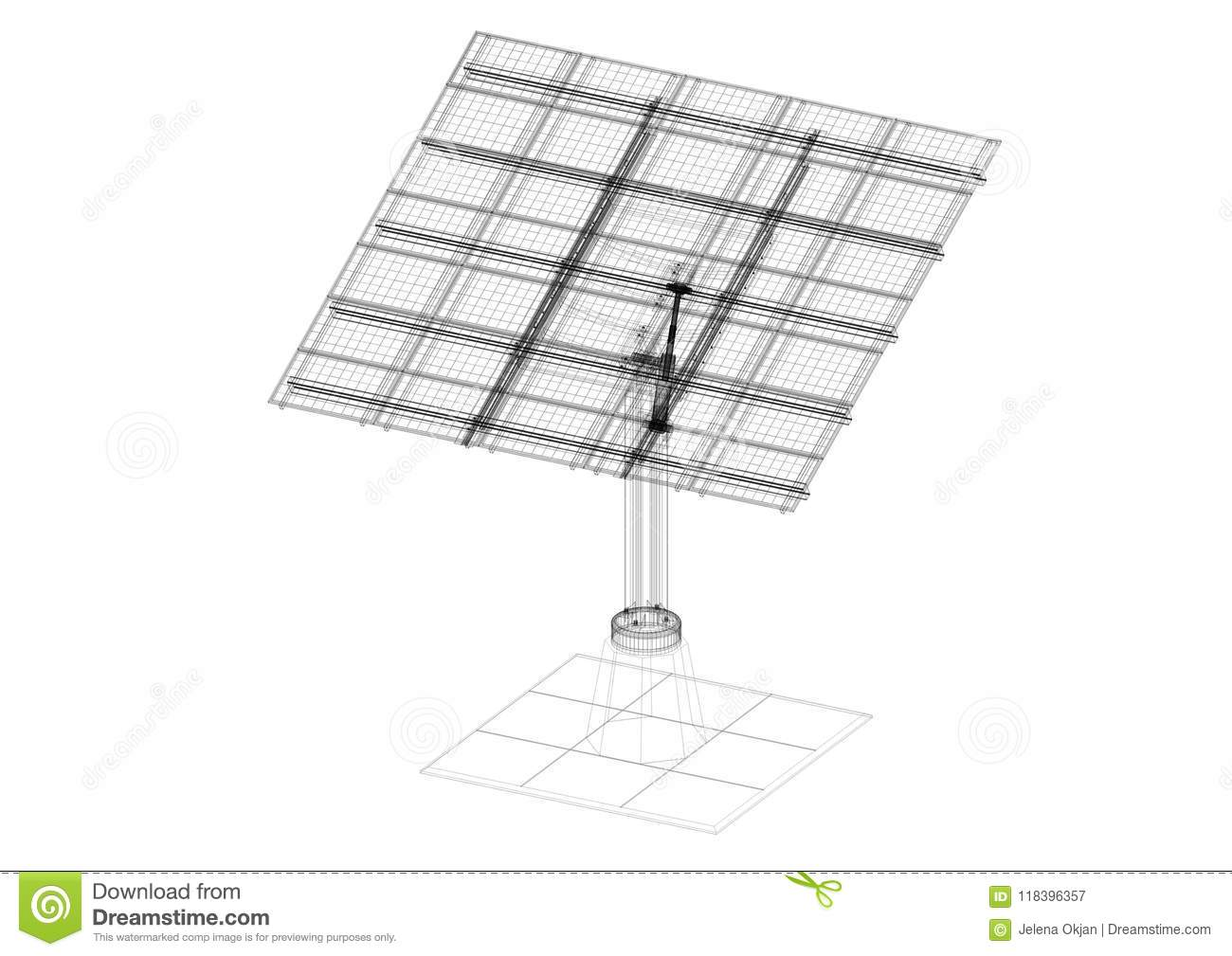 Solar panels architect blueprint isolated stock image image of download comp malvernweather Image collections