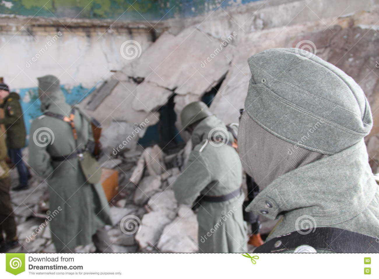 Shooting A Movie About Stalingrad Stock Image - Image of