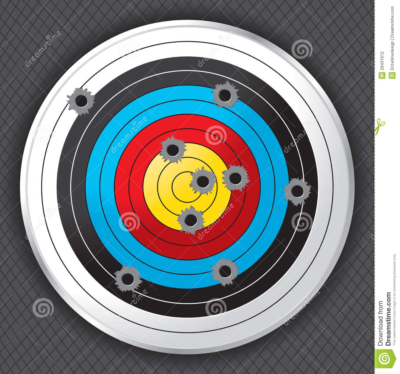 Shooting Range Gun Target With Bullet Holes Stock Photography - Image ...