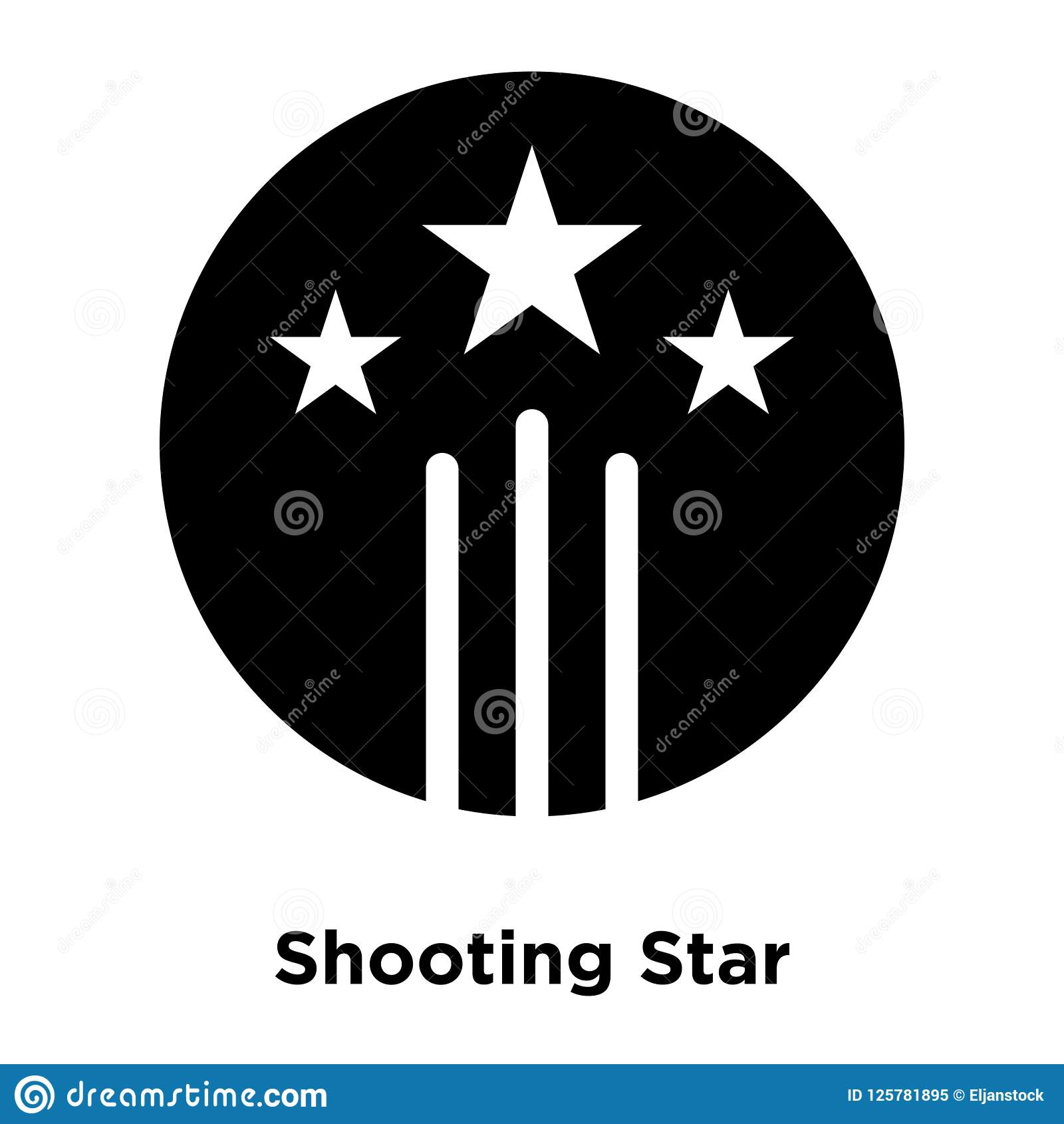 Shooting Star icon vector isolated on white background, logo con