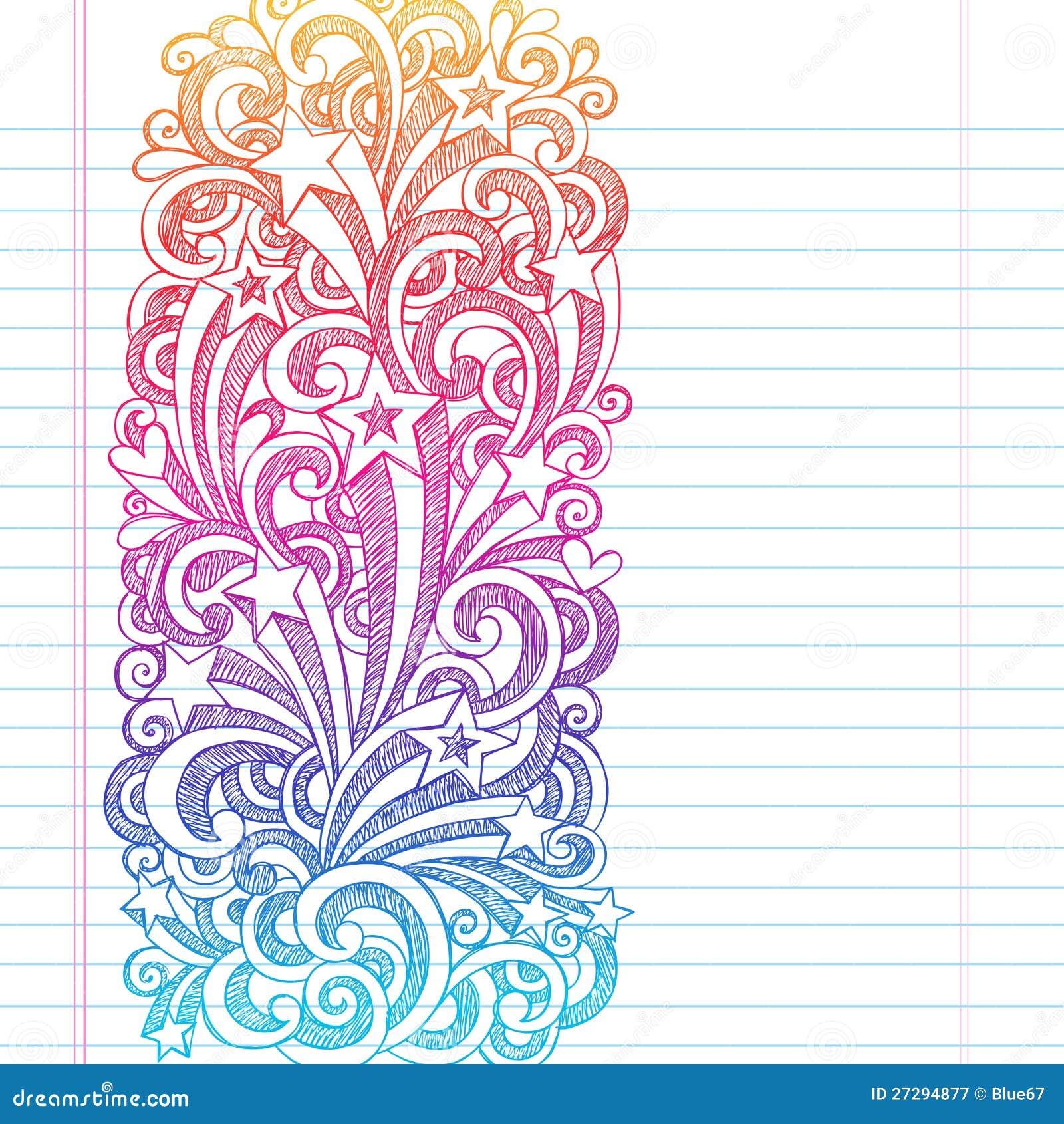 Shooting Stars Back to School Sketchy Notebook Doo