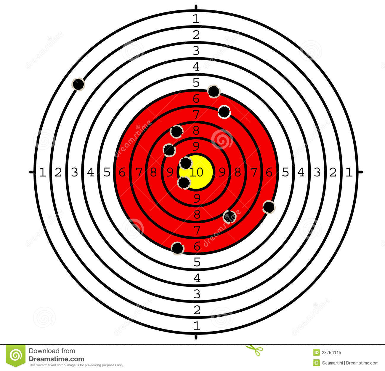 Shooting Target Royalty Free Stock Photo - Image: 28754115