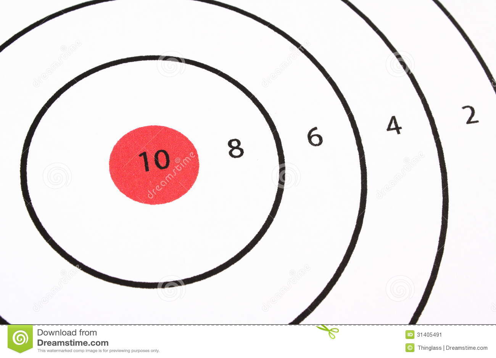 Bullseye target shooting target bullseye