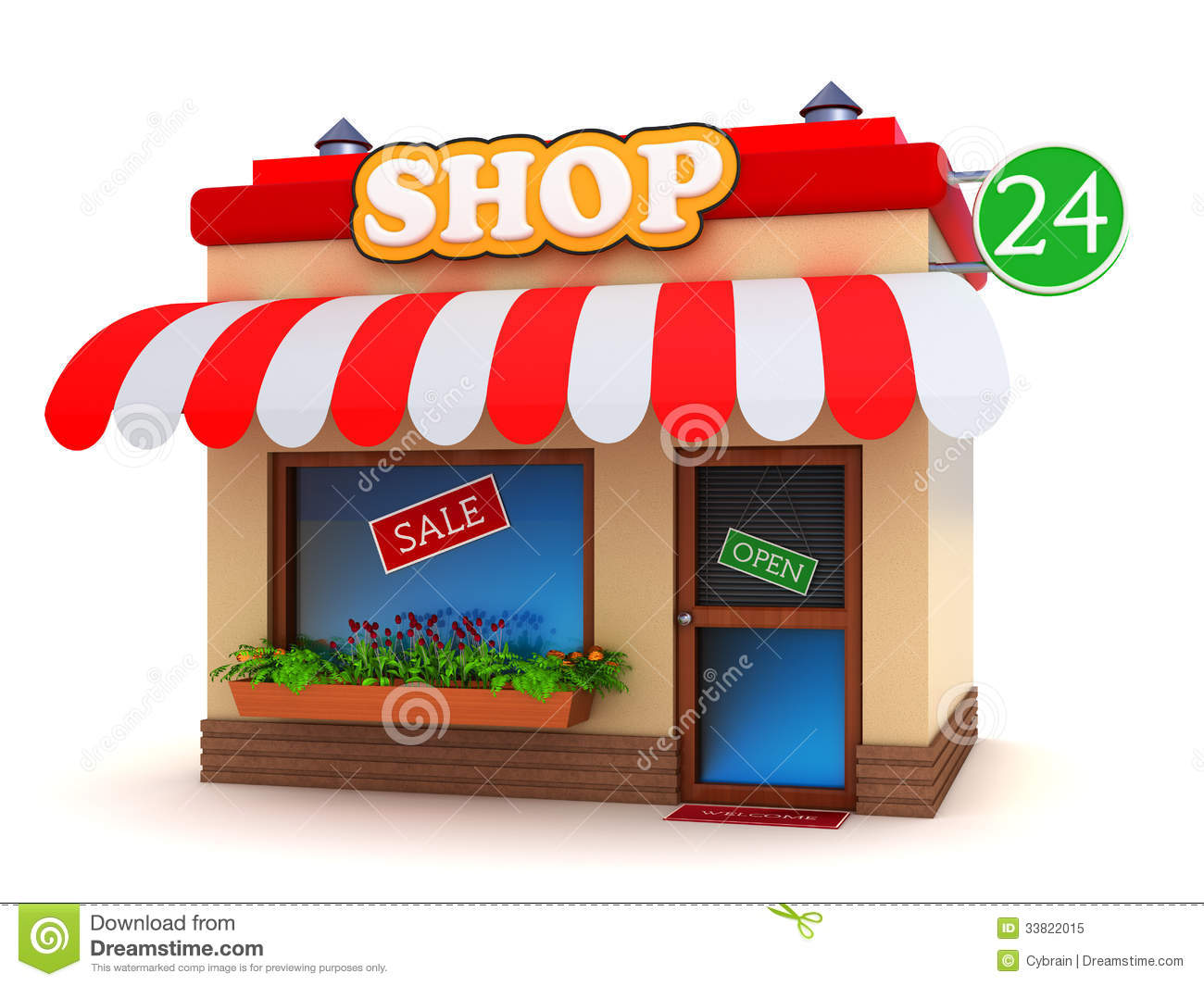 Shop building stock illustration illustration of online for House builder online free