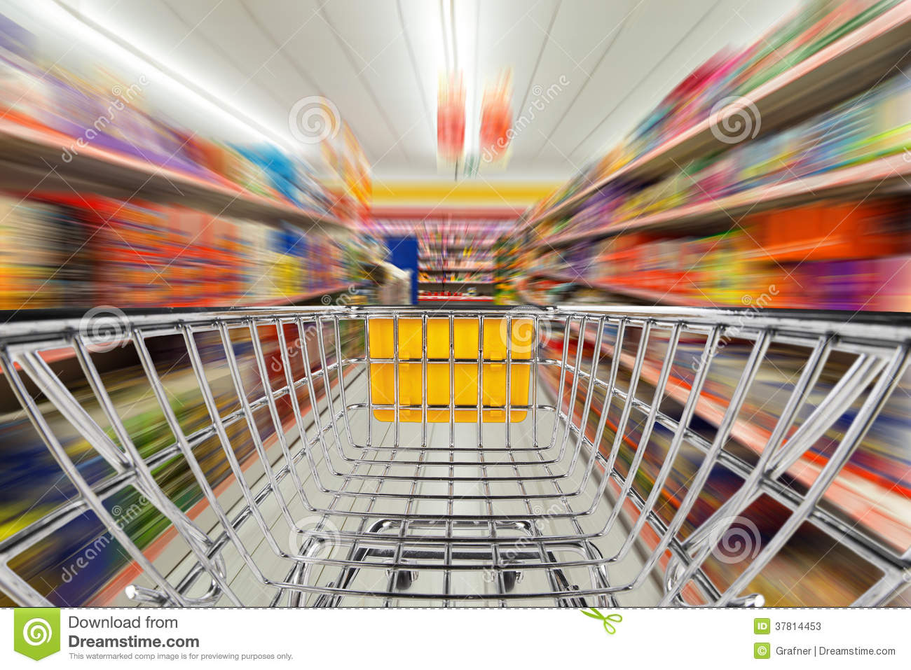 Download Shop cart in supermarket stock image. Image of power - 37814453