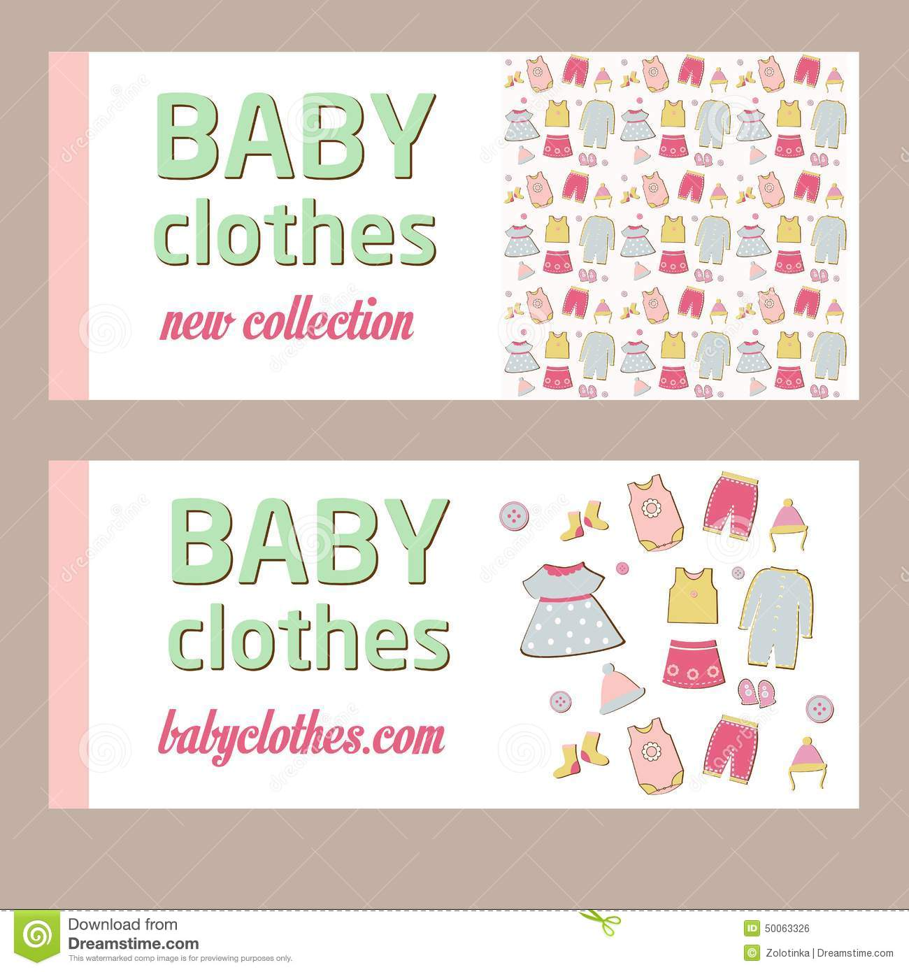 how to make a baby clothes banner