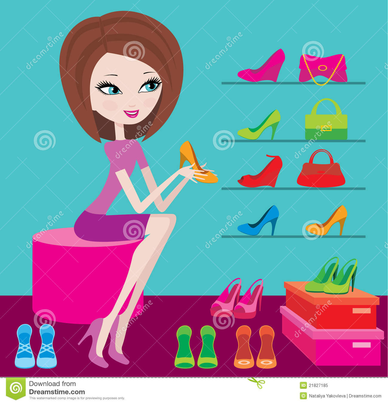 Royalty Free Stock Photo: Shop of female footwear
