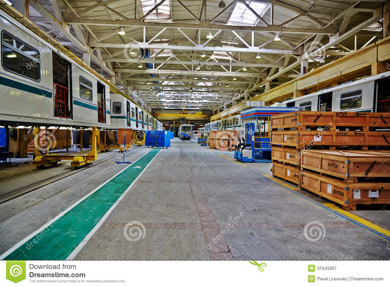 Shop Floor At Mytishchi Metrovagonmash Factory Editorial