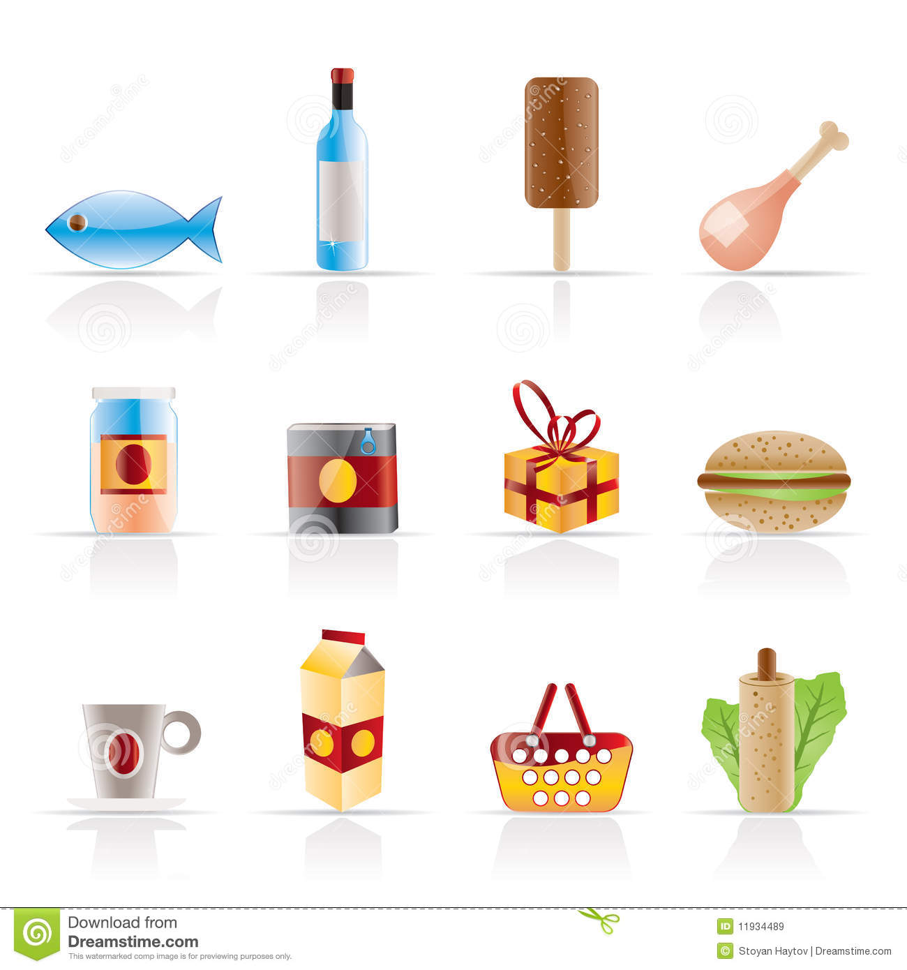 Shop, Food And Drink Icons 1 Royalty Free Stock Images - Image ...