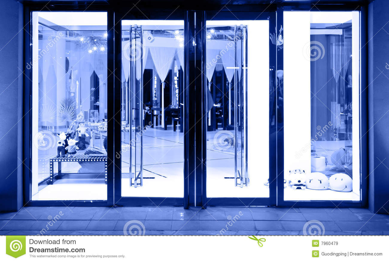 Royalty-Free Stock Photo. Download Shop Glass Door ... : door shop - Pezcame.Com