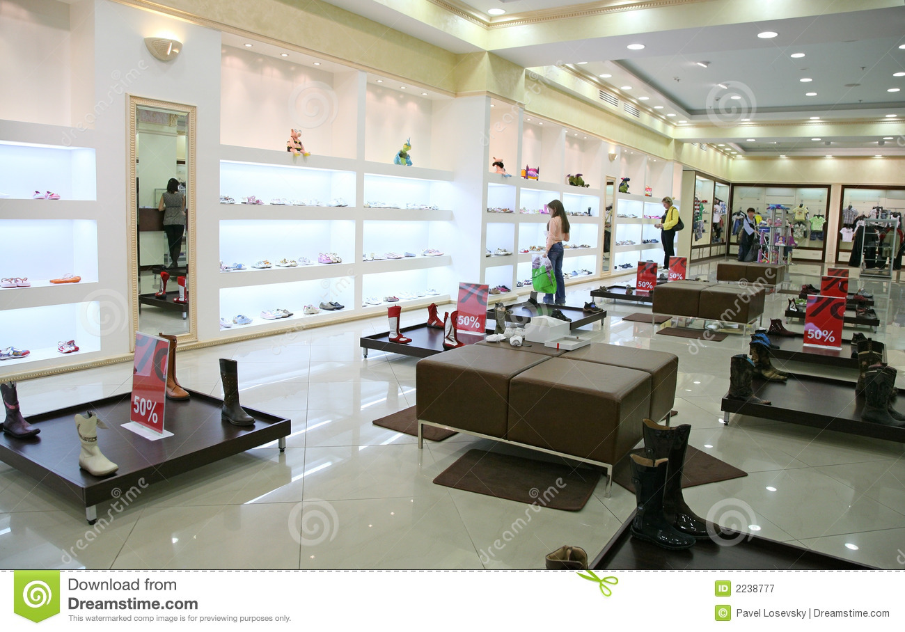 Shop Interior Stock Image Image Of Gold Green Beauty