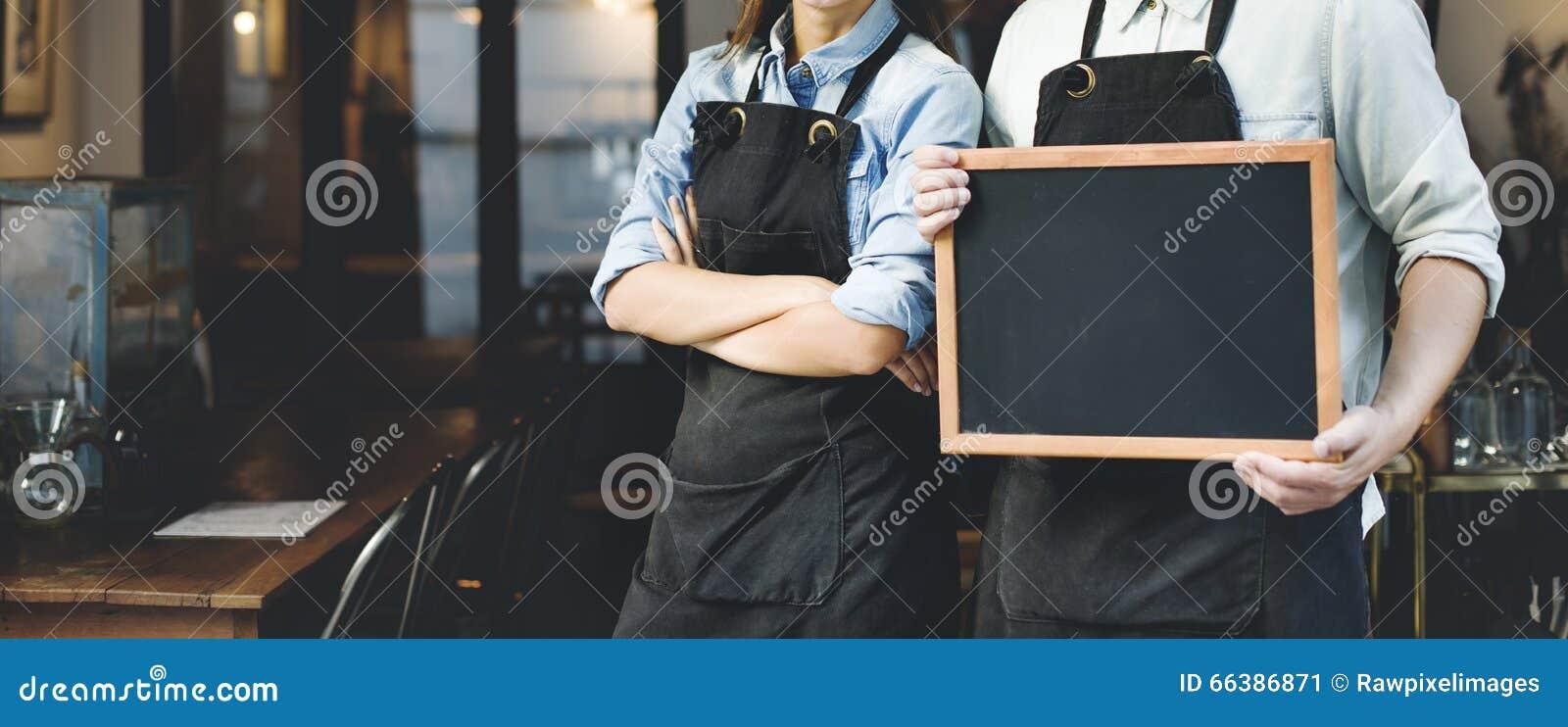 Shop-Konzept Barista Staff Working Coffee