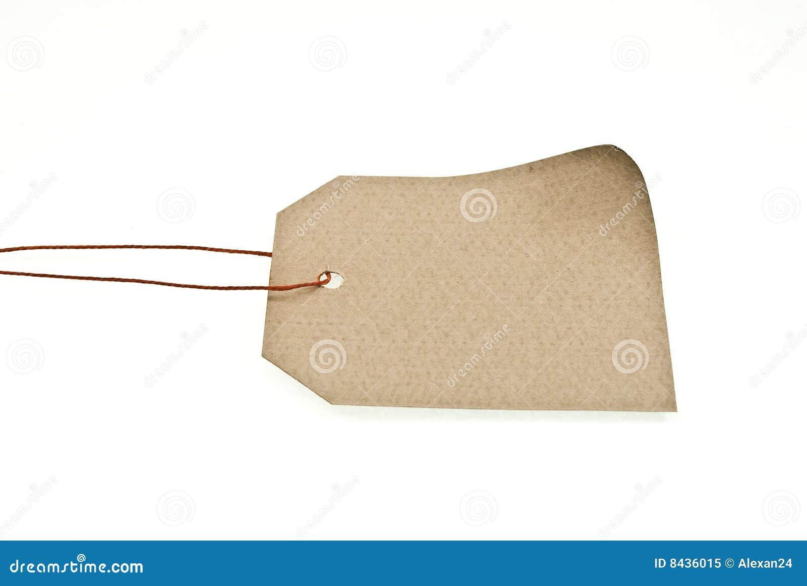 Shop label with lace