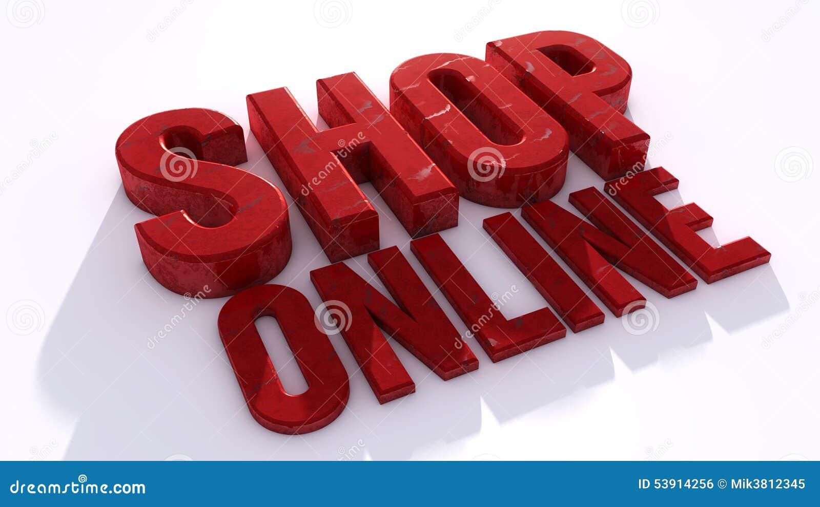 Shop online stock illustration image 53914256 for D sign shop