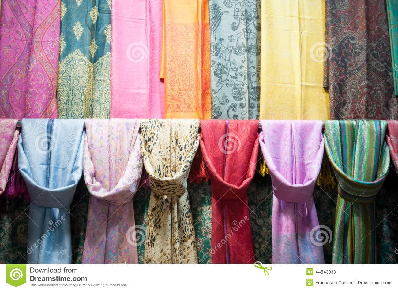 shop scarf in istanbul stock photo image 44543938