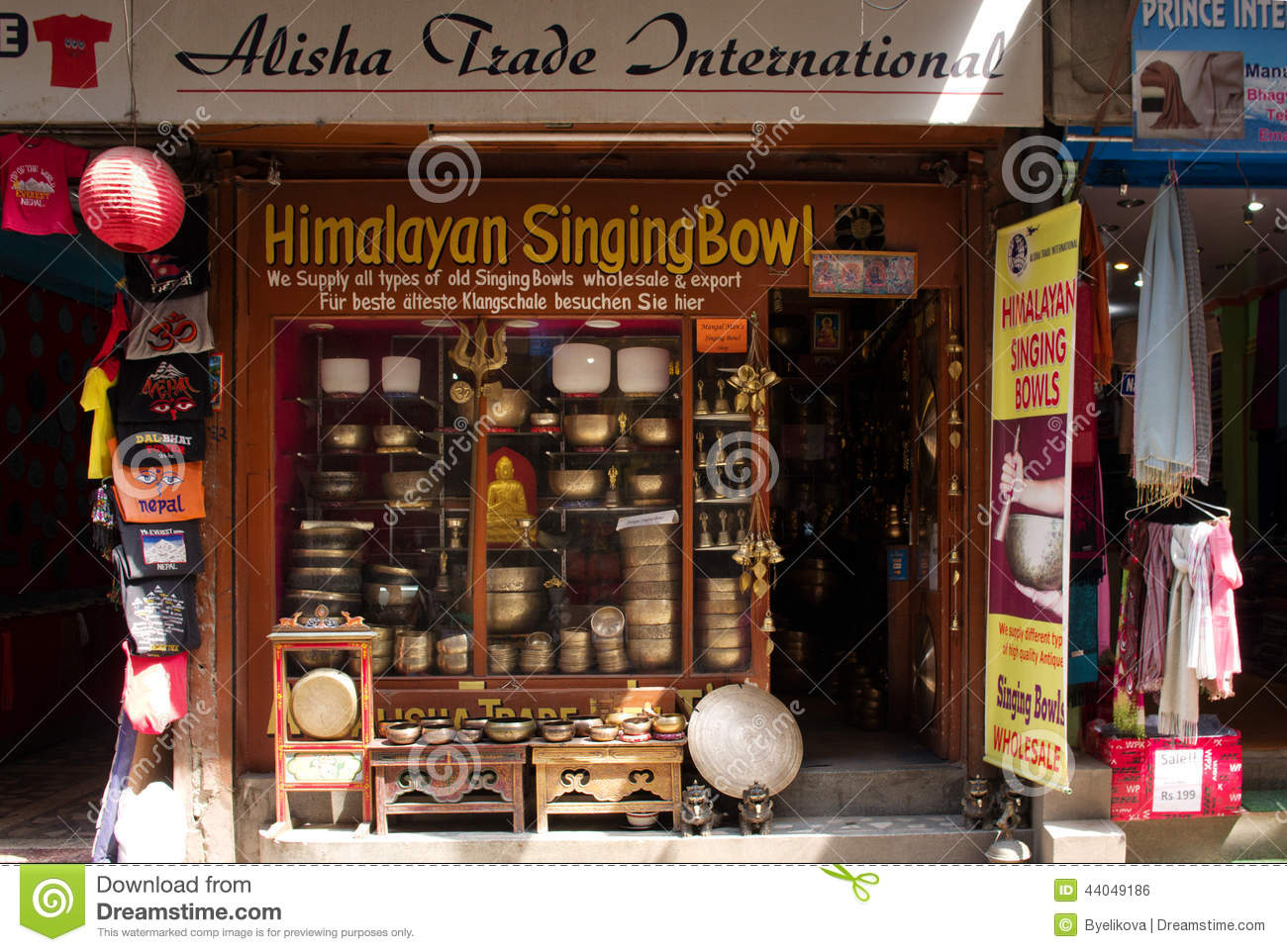 The Shop Sell Traditional Nepalese Handicrafts Goods Editorial Photo