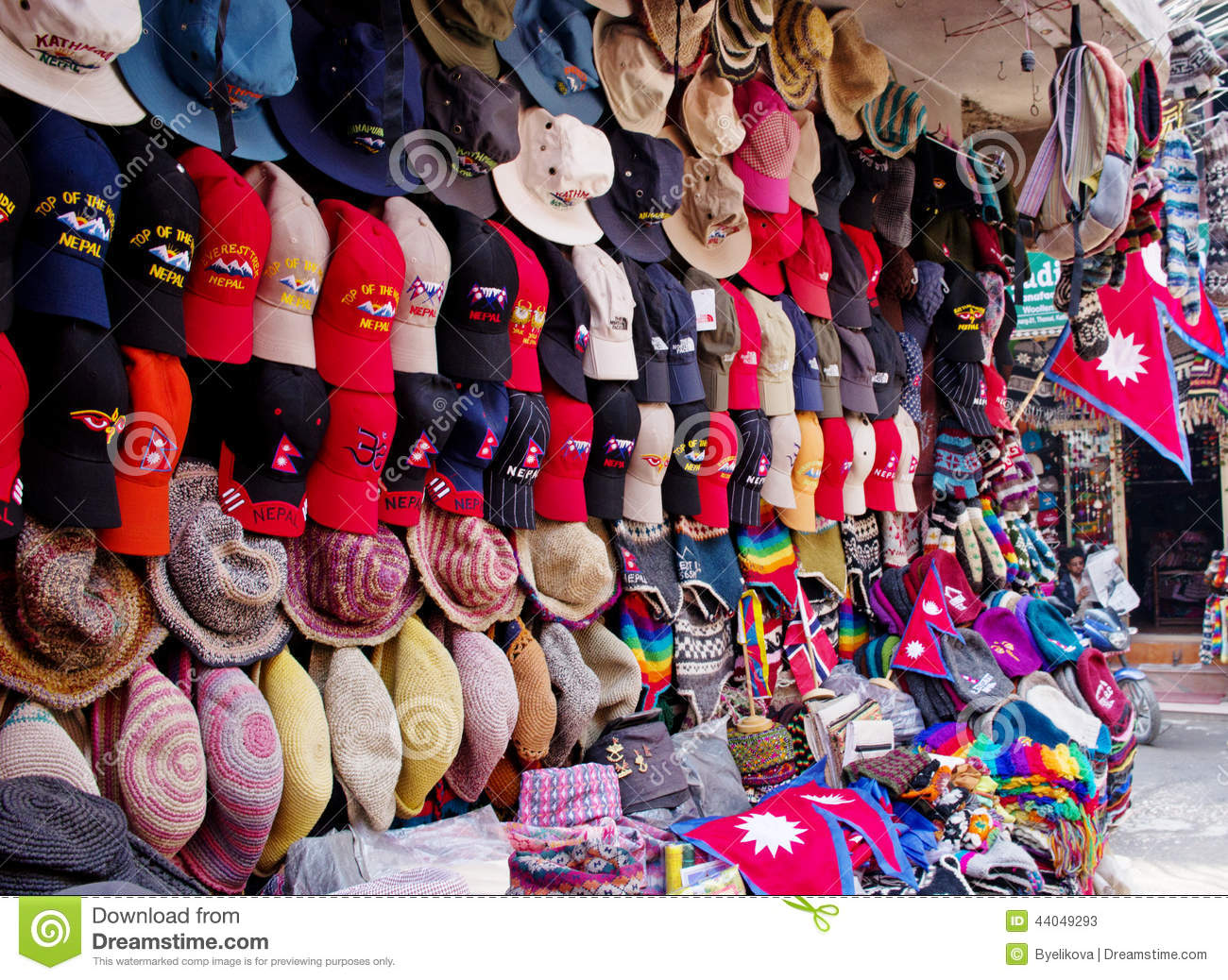 The Shop Sell Traditional Nepalese Handicrafts Goods Editorial Stock