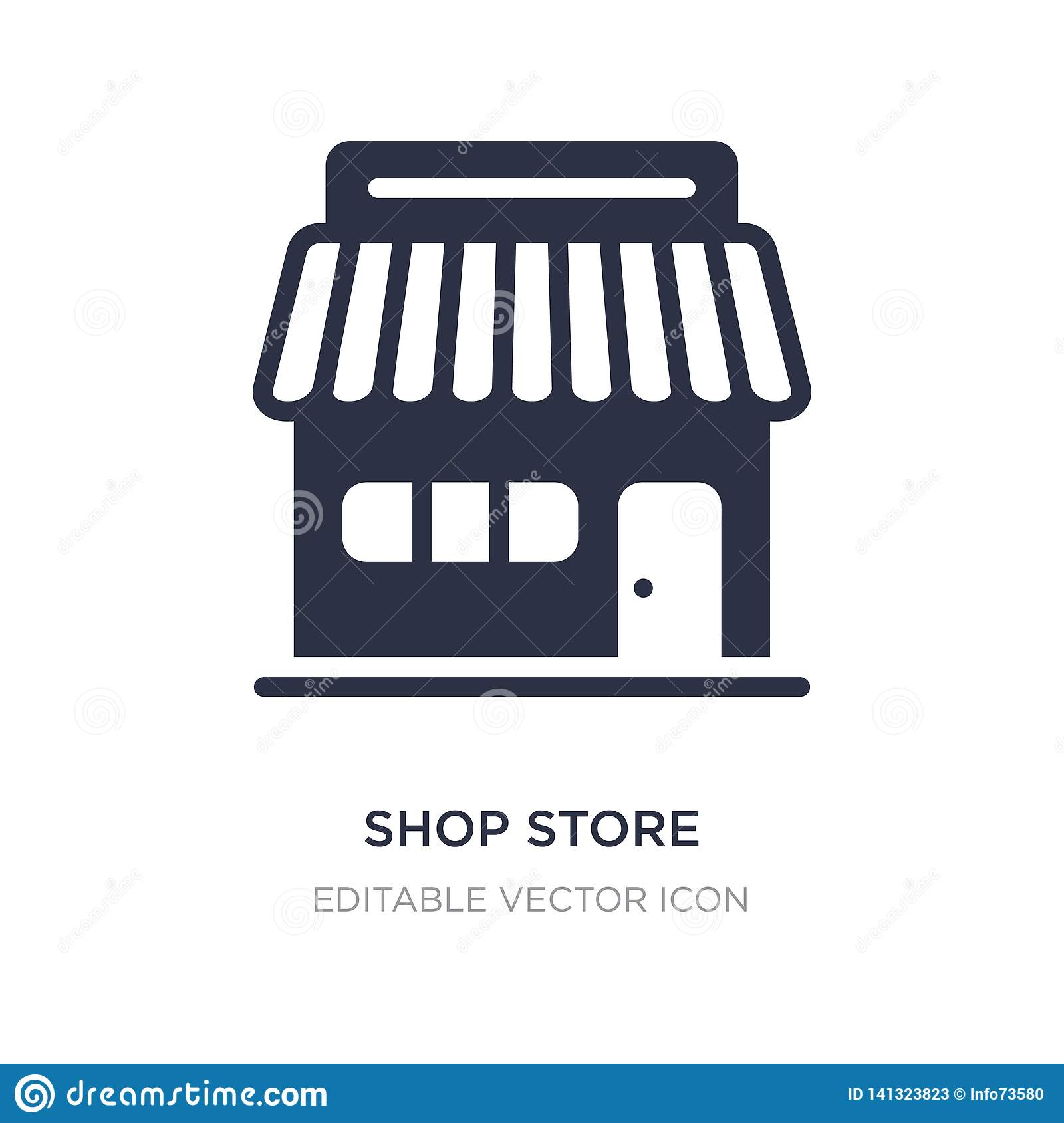 shop store icon on white background. Simple element illustration from Commerce concept