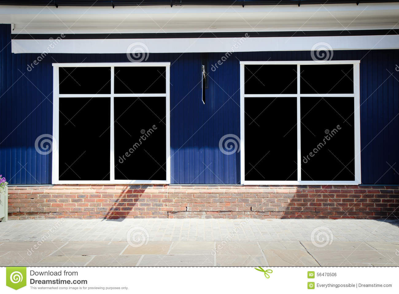 Shopfront Vintage Store Front With Canvas Awnings Stock Photo