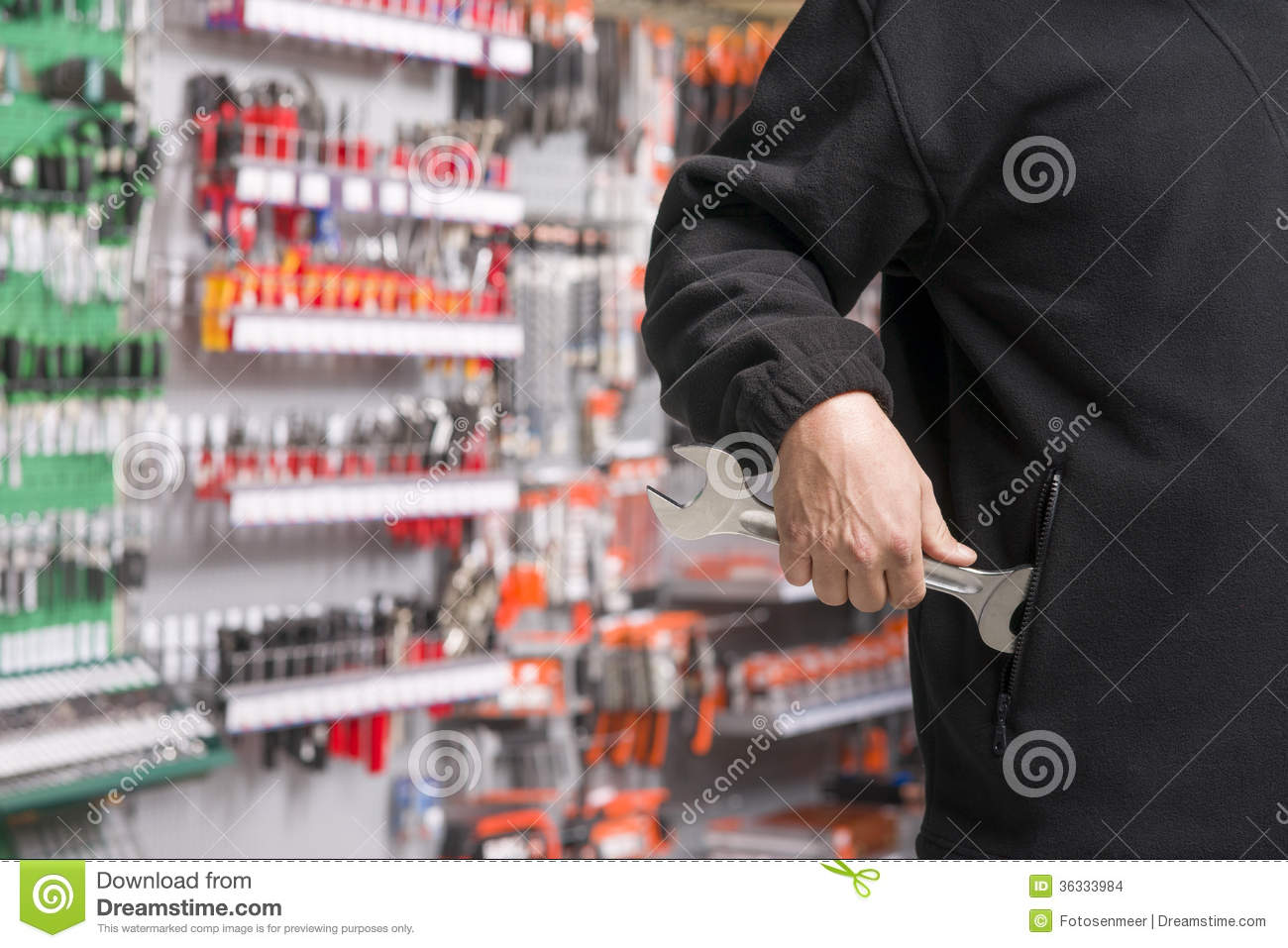 Shoplifter at work stock photo. Image of prevention ...
