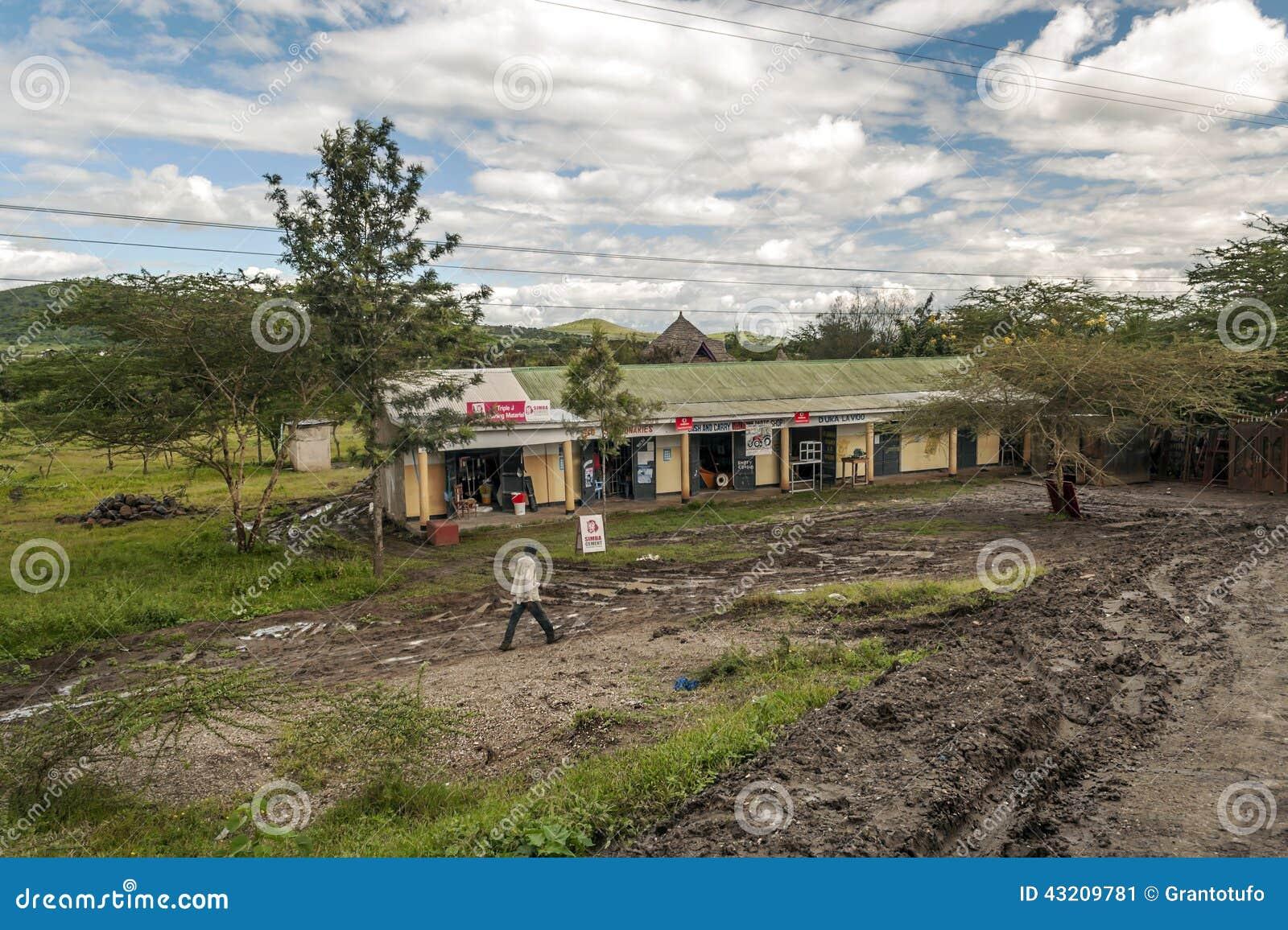 Download Shoppa av Tanzania redaktionell bild. Bild av utanför - 43209781